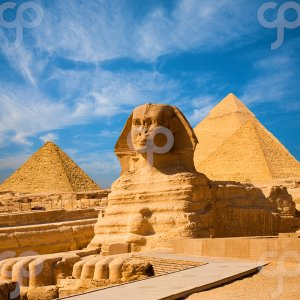 pius99-sphinx full body and pyramids egypt-20