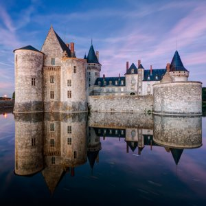 scaliger-the chateau of sully-sur-loire at dusk france-20