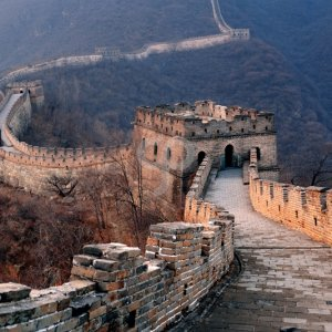songquan deng -great wall sunset over mountains in beijing china-25