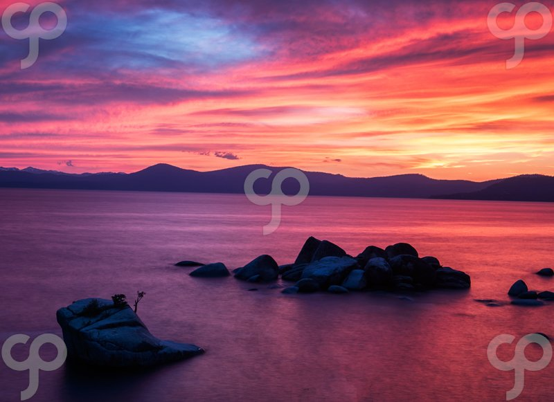valentin armianu-colorful sunset at bonsai rock lake tahoe nevada usa-25