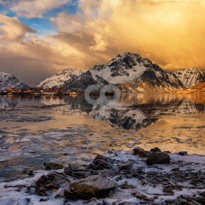 valentin armianu-frozen lake in the arctic islands of lofoten norway-25